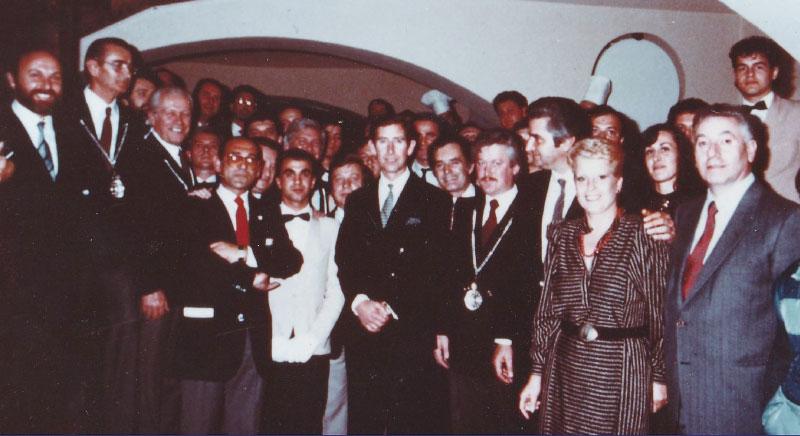 I coppieri dell'Enoclub con il Principe Carlo d'Inghilterra
