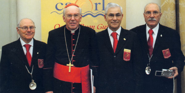 I coppieri dell'Enoclub in Vaticano