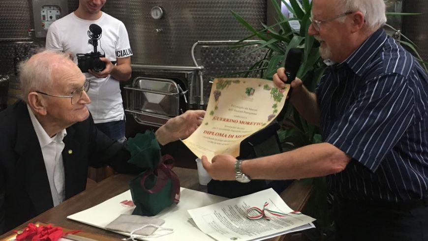 Guerrino Moretto premiato per i suoi 100 anni