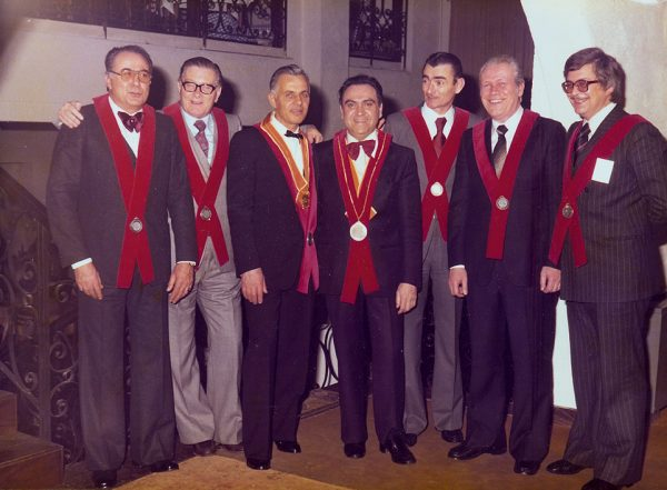 I soci fondatori: Italo Garbellotto, Bruno Dal Cin, Mirko Ambrosio, Vittorino Favruzzo (primo Presidente), Ilario Anese, Duilio Antonio Moras, Leandro Costa